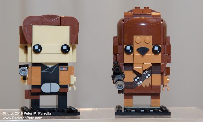 lego, Star Wars, Han Solo, Chewbacca, blockheads