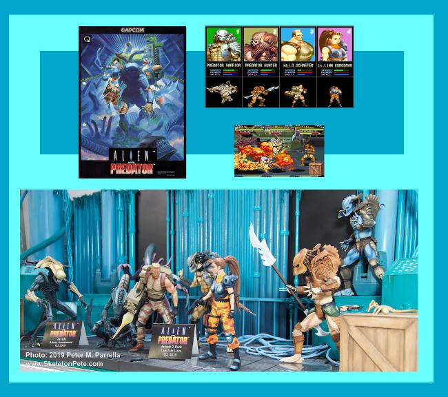 neca, alien, predator, cap com, amp, arcade games, action figures