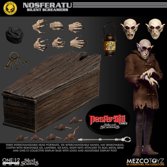 mezco toyz, Aztec toyz, nosferatu, silent screamers , action figures