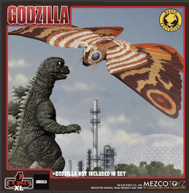 Mezco Toyz, mothra, kaiju, toys, 5 points xl, action figures, Godzilla