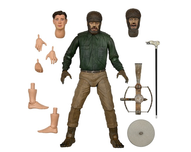 NECA, action figure, the wolf man, universal monster