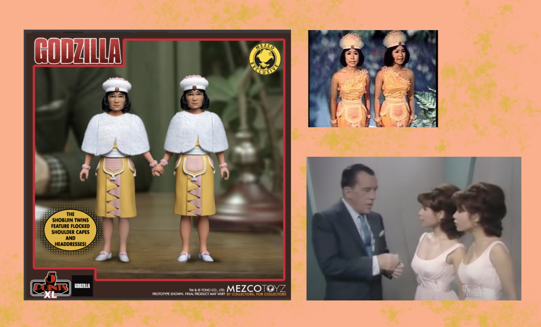 Mezco Toyz, mother, kaiju, toys, 5 points xl, action figures, Godzilla, shobijin, Ito sisters