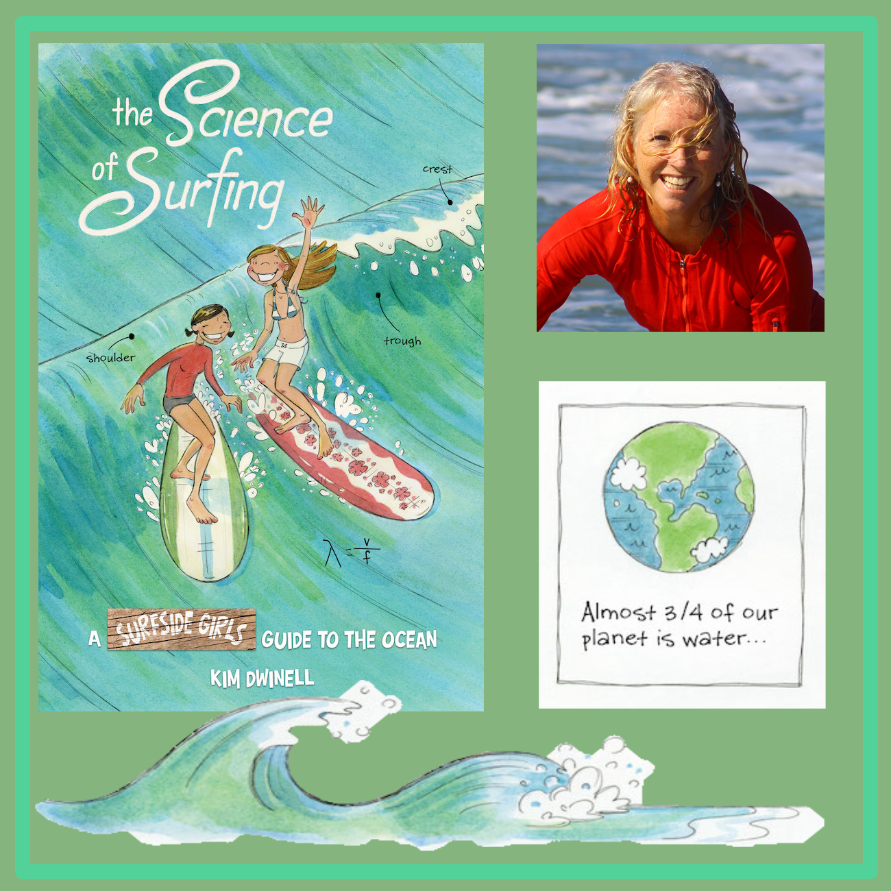 Kim Dwinell, idw publishing, science of surfing, Surfside girls, top shelf productions, graphic novels
